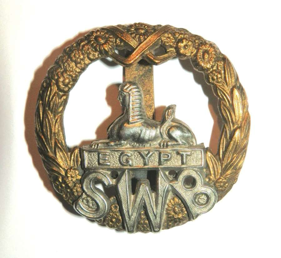 The South Wales Borderers Cap Badge.