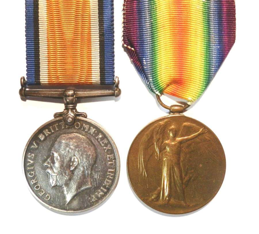 PAIR. Private John F. King. Labour Corps