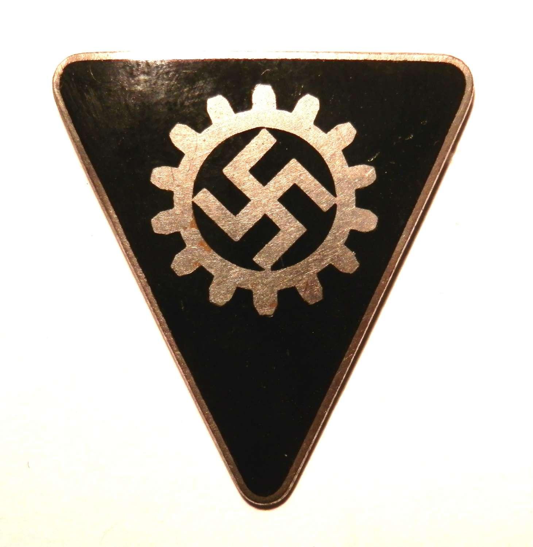 German DAF Labour Front Pin Badge.