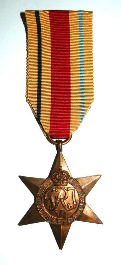 Africa Star, Campaign Africa 1940-43.
