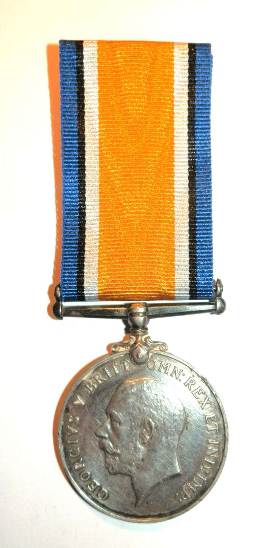 British War Medal. Private Herbert F. Hawley. 22nd London Regiment.