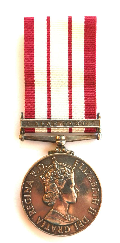 Naval General Service 09-62. P.J. Kinsella Mech. Engr. 1st Class. R.N.