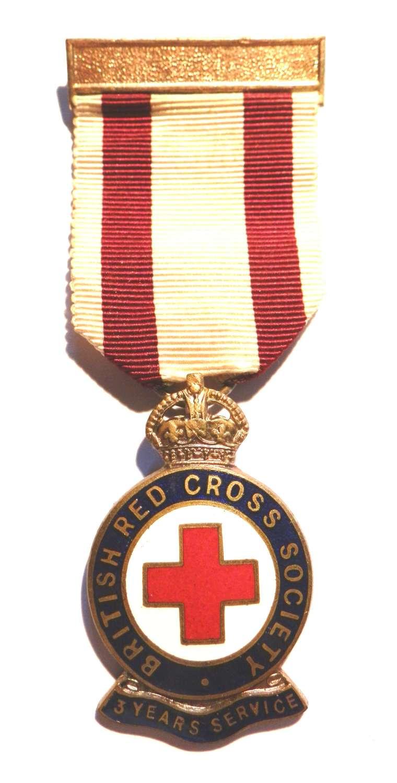 British Red Cross Society, 3 years service.