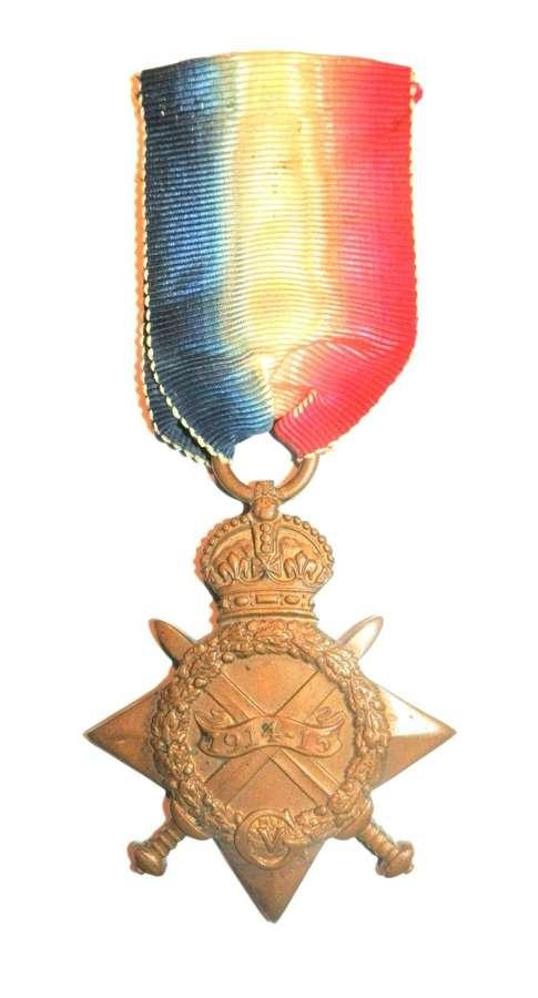 1914-15 Star. 824 Gnr. John W. Blyth, R.F.A. 157 B. Territorial Force.