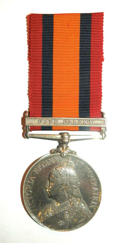 Queen South Africa. Private F. A. Harris. D.E.O. Vol. Rifles.
