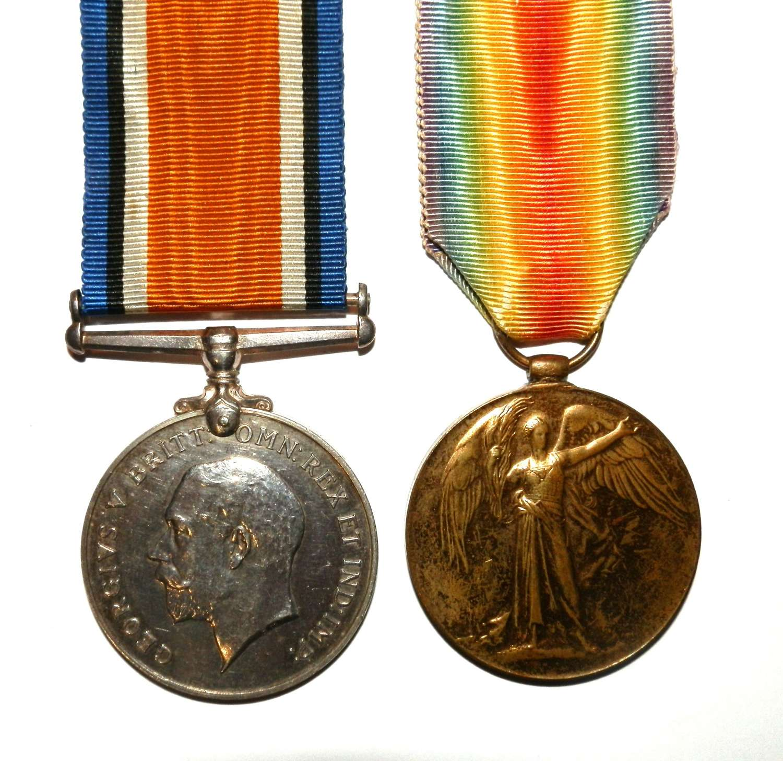 PAIR. Private T. S. Grenfell. Devon Regiment
