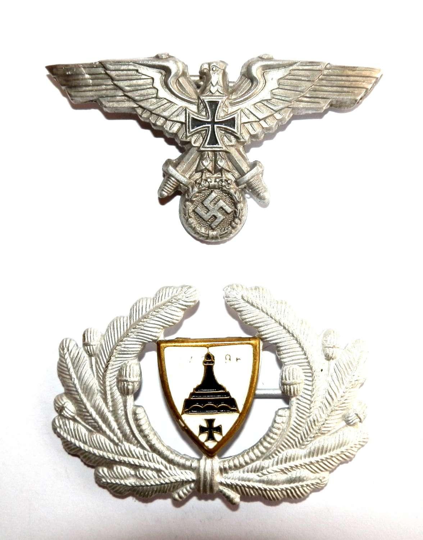 NSDMB Members Visor Cap Eagle and Cockade Insignia.