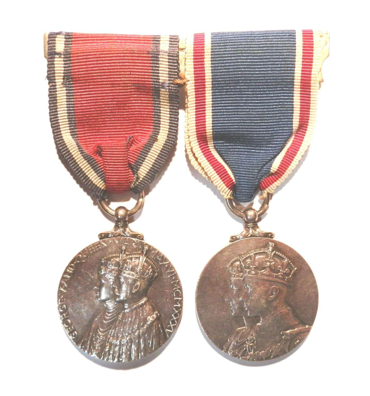 PAIR. Jubilee Medal 1935 and Coronation Medal 1937.