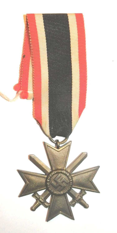 War Merit Cross, 2nd Class with Swords. Maker marked 72.