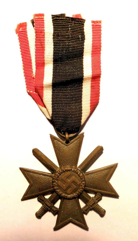 War Merit Cross, 2nd Class with Swords. Maker marked 85.