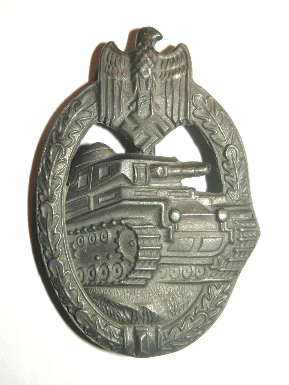 Panzer Assault Badge. Maker marked 'RK'.