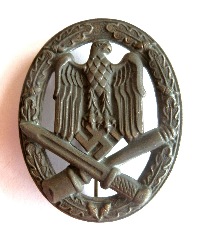 German General Assault Badge. Maker marked 'R.S.' by Rudolf Souval.