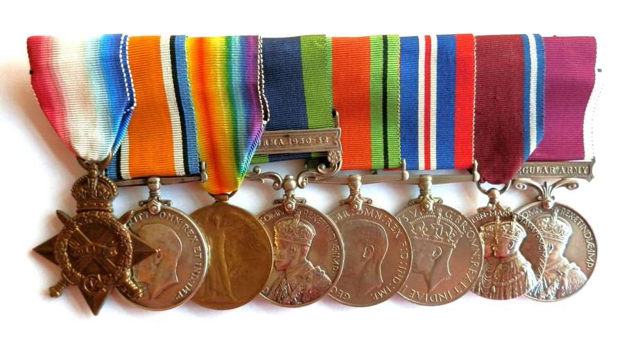 GROUP OF EIGHT. Sgt A. Bearsley 1/4th -2/4th Oxford & Bucks Light Inf.