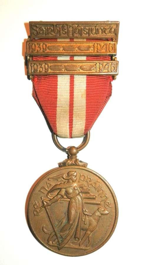 Irish Emergency Medal 1939-46. 'Na Forsai Consanta'.Regular Army Issue